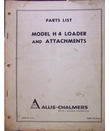 Allis Chalmers H4 Loader Parts Manual  - $15.00