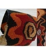 1 Drop Even Peyote Bead Pattern - Abstract Petroglyph Cuff Bracelet - $4.00