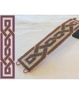 1 Drop Even Count Peyote Bead Pattern - Celtic Knot Cuff Bracelet - $4.00