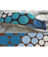 3 Drop Odd Count Peyote Bead Pattern - Progressive Blue Circles Cuff Bra... - $4.00