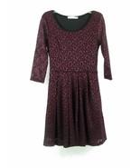 LUSH Size S Fits XS Burgundy Black Floral Lace Dress - $15.99