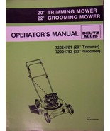 "Deutz-Allis 20"", 22"" Push Mowers Operator's Manual - 1987 - $12.00"