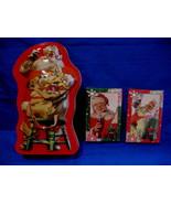 Vintage Coca Cola Tin Santa Claus 2 Decks of Playing Cards Souvenir Coll... - $14.95