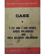 Case T-101, T-200 Series Auger & Bulk Unloaders Operator's Manual - 1963 - $9.00