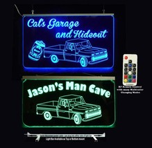 Personalized LED Vintage Truck sign, LED Neon, With or without beer can - $96.03+