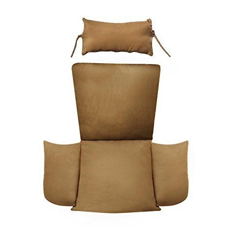 Hanging Basket Chair Cushion Replacement with Head Pillow by Island Gale, Remova
