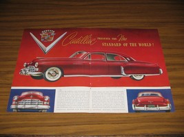 1948 Print Ad Cadillac Red with White Sidewall Tires - $19.73