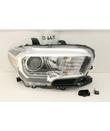 OEM HEAD LIGHT HEADLIGHT LAMP TOYOTA TACOMA 16-19 BLACK LED DRL chip gri... - $113.85