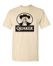 Quaker Oats T-shirt retro vintage 80s brands 100% cotton graphic men tee image 2