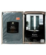 2 Count Cambria Epic 50 In X 63 In Mineral Blue 100% Polyester Rod Pocke... - $44.99
