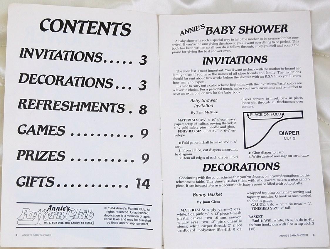 Annie's Baby Shower Book