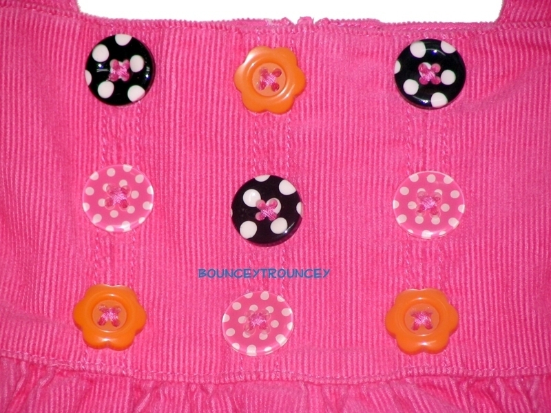 NWT Gymboree ALL ABOUT BUTTONS Pink Jumper 0 3 Months