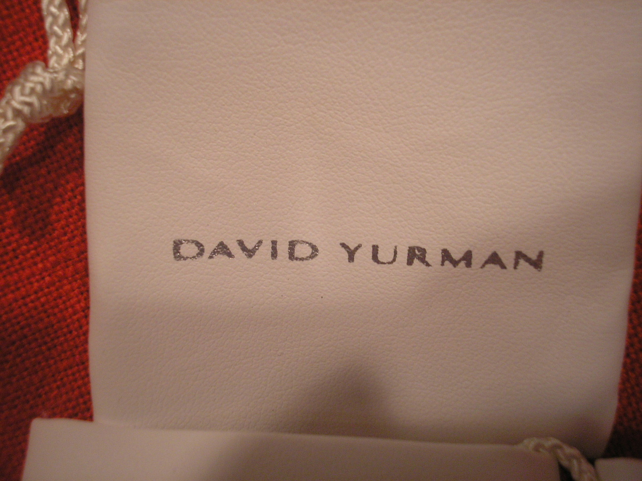 Yurman 5 small White Pouches  with Silver lettering NEW