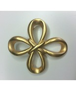 Anne Klein Gold Tone Cross Brooch Costume Jewelry  - $12.86