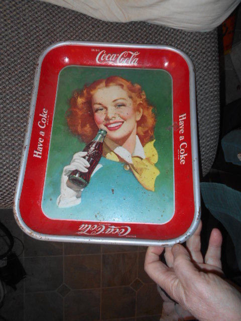 Vintage Original Old Coca Cola Tray Girl and 50 similar items
