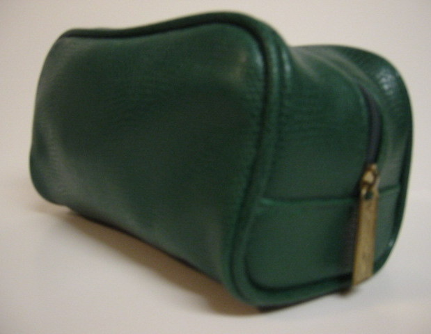 Primary image for Signature Club A Makeup Cosmetic Case Bag Green