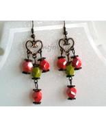 coral & jade earring - $13.99