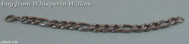Stainless steel 300 figaro chain 1