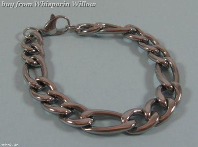 "9"" Stainless Steel 300 Figaro Chain"