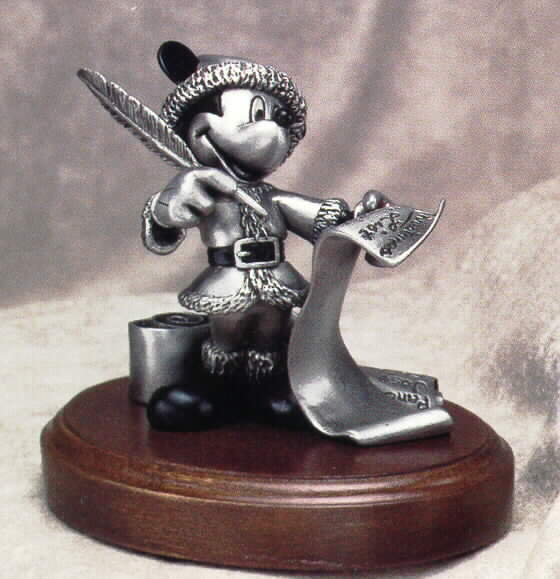 Disney Mickey Mouse Cheking it Twice Pewter Make Offe
