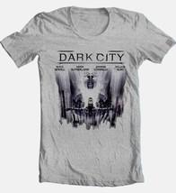 Dark City T-shirt Free Shipping retro 1990s science fiction movie grey tee image 2