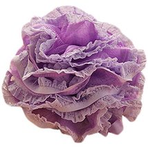 Set Of Two Lovely Soft Chiffon Lace Bath Ball Bath Spend More Upset(Purple)