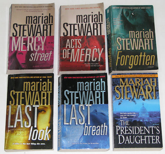 7 PB Books by Mariah Stewart Suspense Thriller, Mercy, Last