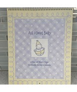 Hallmark All About Baby 13 Month Fill In Calendar Milestone Memory Stickers - $19.46