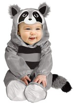 Fun World Unisex Baby Raccoon Toddler Costume, Multicolor, Large 12-24 M... - $20.66