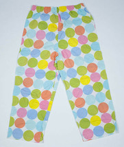 Basically Kids Girls Size 7 8 Pants White Colorful Polka Dots 100% Cotton  - $9.89