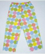 Basically Kids Girls Size 7 8 Pants White Colorful Polka Dots 100% Cotton  - $9.89