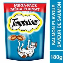 5x Whiskas Temptations Cat Treats Savoury Salmon -Mega Pack 180g Each -F... - $22.23