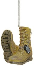 Support Our Troops Military Boot Ornament - Army - $10.83