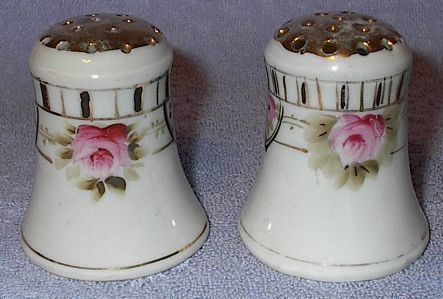 Nippon Rose Painted Salt and Pepper Shaker Set