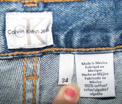 Men's Calvin Klein Blue Jeans Straight Leg 36 x 33.5
