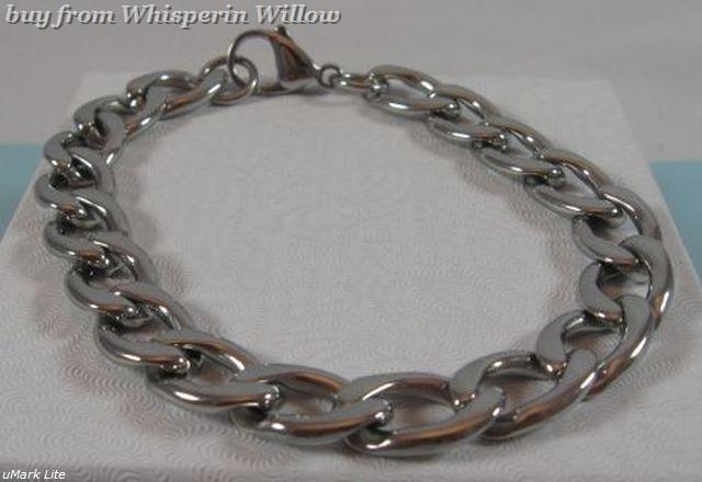Stainless steel 300 curb bracelet 1