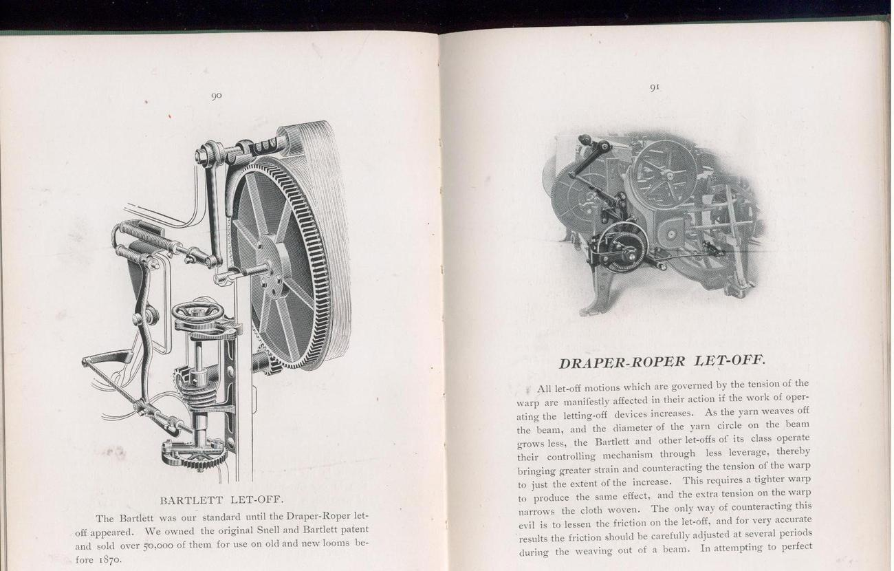 LABOR SAVING LOOMS - 1907, Draper Co. catalog - weaving