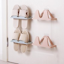 Wall-mounted Shoes Rack No Trace Paste-style Simple Slippers Holder Home... - $9.99