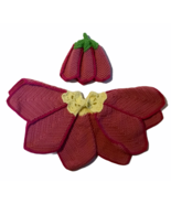 Baby Homemade Crocheted Flower Cape Strawberry Hat Cap Salmon Pink Yello... - $24.74