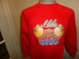 Vtg 1979  Sportswear Brand I like BIG JUGS comic 50-50 Crew Sweatshirt F... - $39.55