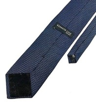 New Kenneth Cole New York Tie Dark Blue Silk Men's Neck Tie - $13.95