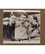 DOM DIMAGGIO LITTLE PROFESSOR WITH BROTHERS JOE & VINCE AUTO SIGNED 8X10... - $149.99