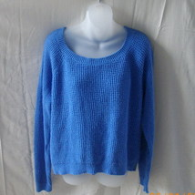 Old Navy large long-sleeved blue cotton blend sweater in waffle knit - $15.00