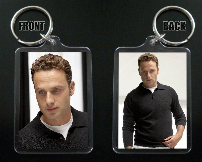 ANDREW LINCOLN keychain / keyring THE WALKING DEAD Rick Grimes 2