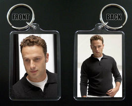 ANDREW LINCOLN keychain / keyring THE WALKING DEAD Rick Grimes 2 - $7.84