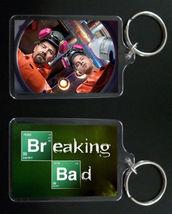 BREAKING BAD keychain / keyring Aaron Paul Bryan Cranston JESSE & WALTER... - $7.84