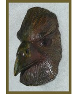 Raven Eagle Pottery Head Bronze Gothic Hanging Unusual LOOK! - $39.99