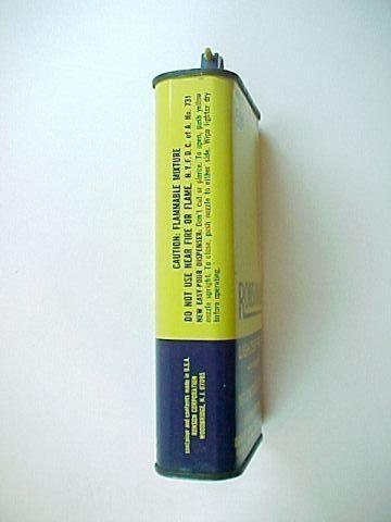 Vintage Empty 12 fl oz Ronson Ronsonol Lighter Fuel Tin Can