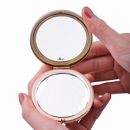 Diamond Crystal makeup compact mirrow