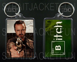 BREAKING BAD keychain / keyring JESSE PINKMAN Aaron Paul BITCH 2 - $7.84